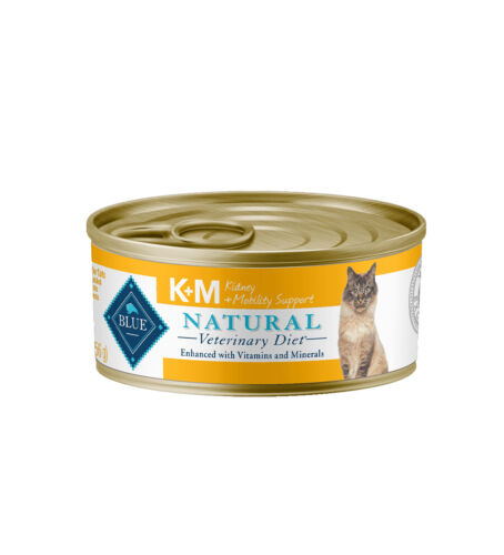 BLUE Natural Veterinary Diet K+M Kidney and Mobility Support Wet Cat Food