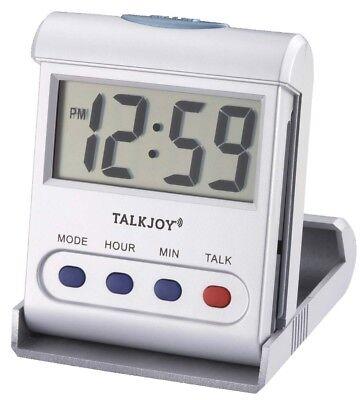 Sprechender Wecker Reisewecker Senioren Taschenuhr großes Display Ansage Uhrzeit Großes Display
