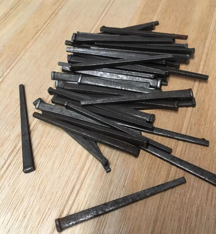 "NOS 3"" Hardened Cut Flooring Nails (1# approx. 53 pcs)"