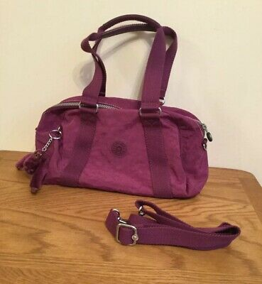 Kipling Tiani Bag in Berry Sweet Purple With Vannia Monkey Vgc Shoulder Strap