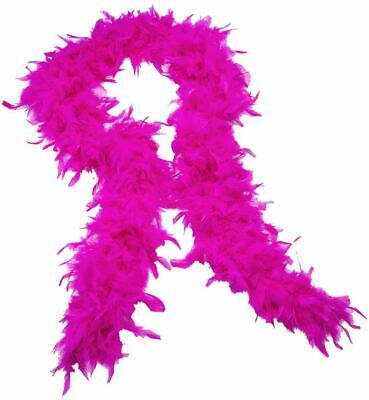 Hot Pink Fluffy Feather Boa Strip Wedding Bachelorette Dressup Party Events - Party Boa