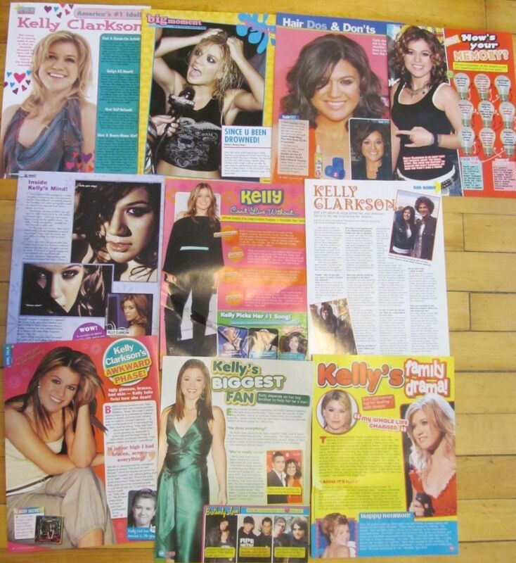 Kelly Clarkson, Lot of TEN Full Page Pinup Clippings