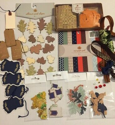 Fall Scrapbook Paper (Fall Autumn Scrapbook Kit W/Paper Alpha Trims Embellishments 30 Days Thankful)
