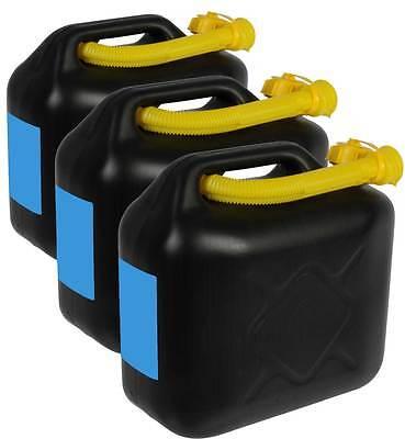 3x10L Kraftstoffkanister Benzinkanister Reserve Kanister Kraftstoff UN-Zulassung