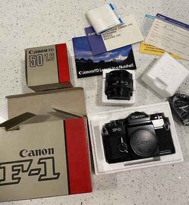 【RARE!! UNUSED in Box】New Canon F-1 35mm Camera With New Canon 50mm 1.8 Lens