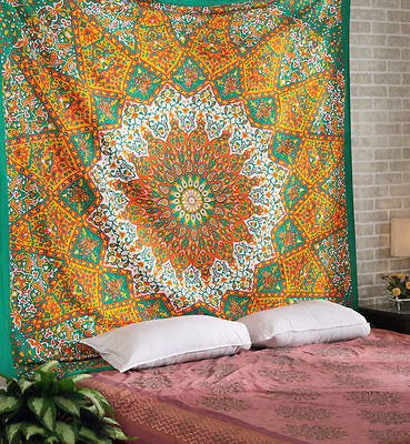 Indian Large Ombre Mandala Tapestry Wall Hanging Hippie Bedspread Bohemian 59