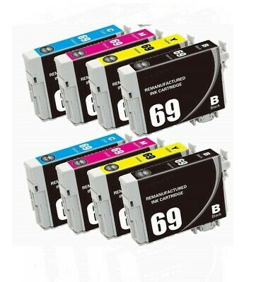 8PK 2 Set Hi-Yield Ink For Epson 68 69 T0681 - T0684 T0691 - T0694 CX5000 CX6000 5000 Magenta Ink