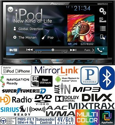 Pioneer Double Din DVD CD Player Car Pandora Android AUX