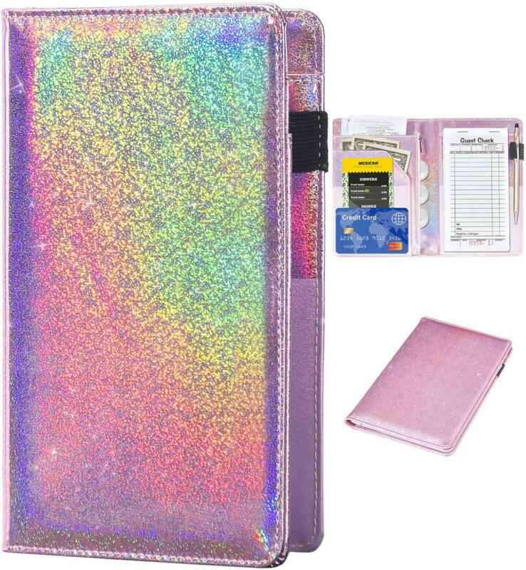 Server Books for Waitress - Glitter Leather Waiter Book Server Wallet with