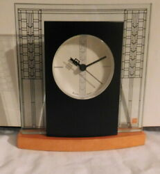 Bulova Desk Table Clock Frank Lloyd Wright  Collection Glasner House NEW in Box