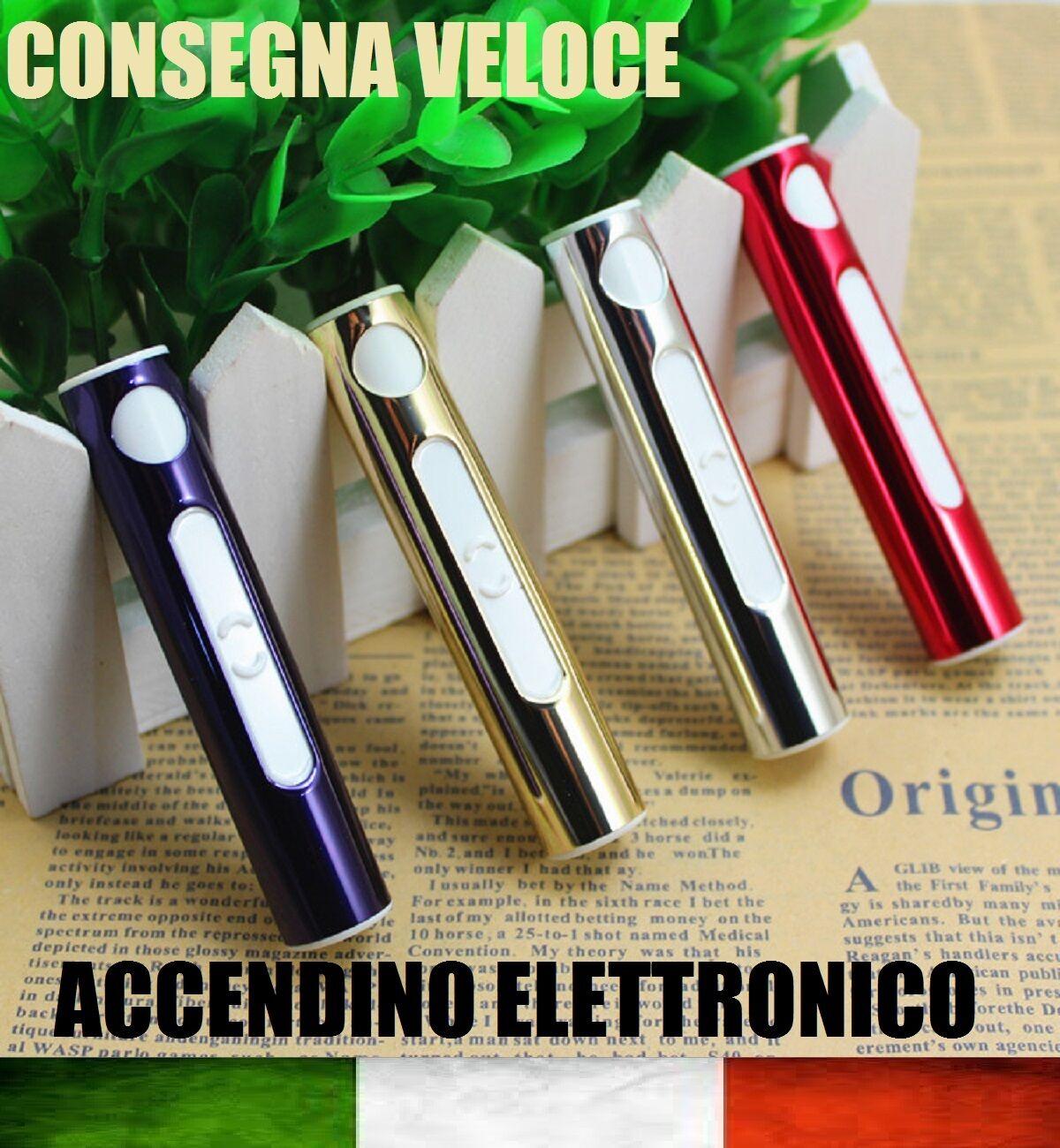 ACCENDINO ELETTRICO USB RICARICA RICARICABILE NO GAS ANTI VENTO ELETTRONICO