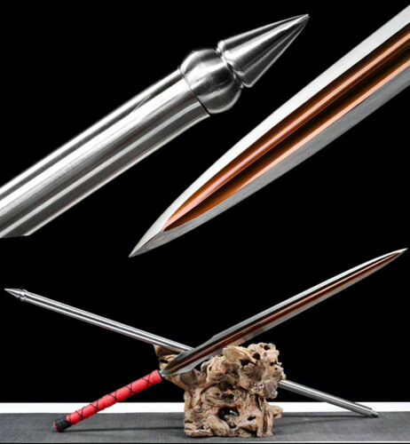 Boutique Hunting Spear Sharp Red Manganese Steel Spearhead Blade Battle Ready