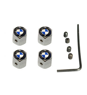 BMW Anti-theft Metal Car Wheel Tyre Tire Stem Air Valve Cap