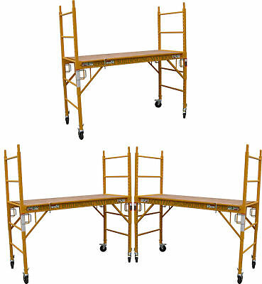 3 Mfs Baker Scaffold Rolling Towers 29w X 6h Deck With Double Lock Cbmscaffold