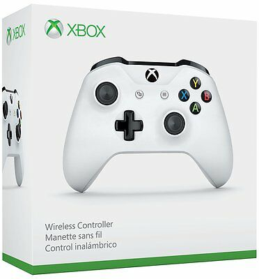 Xbox One S Wireless Microsoft Controller Glacier White, Brand NEW w Bluetooth