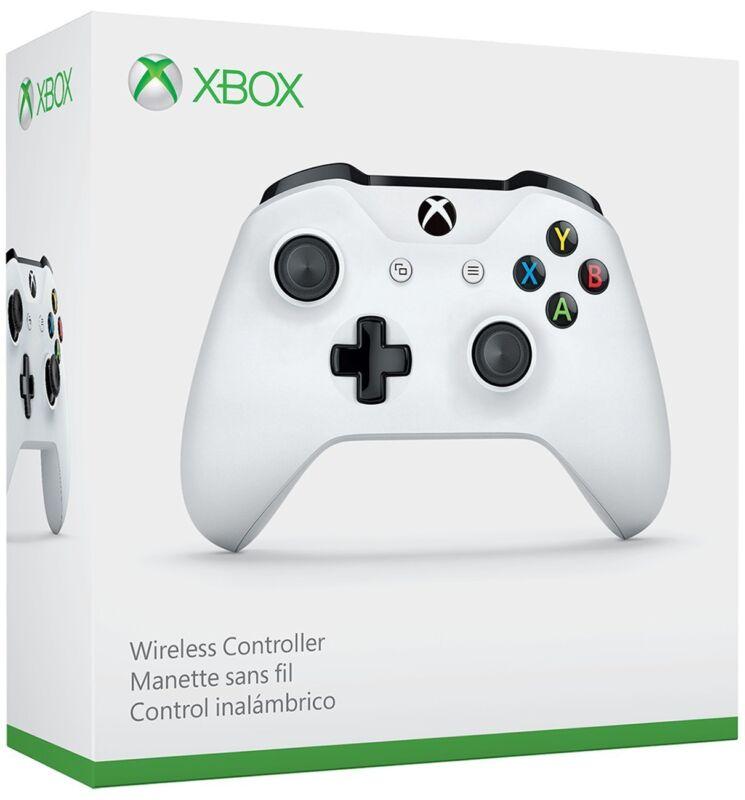 Xbox One S Wireless Microsoft Controller Glacier White, Brand NEW w Bluetooth
