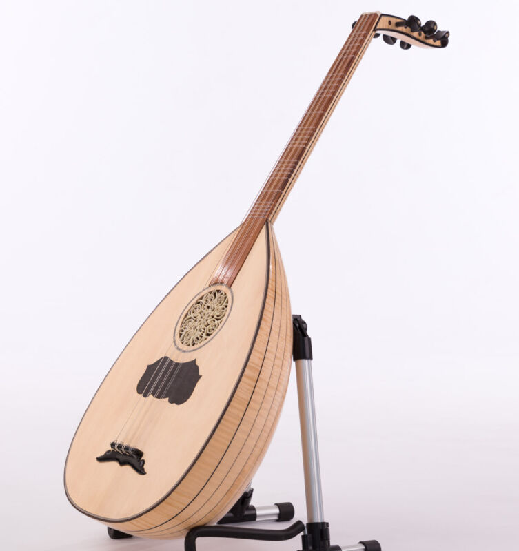 Professional Turkish Lavta Lute made of Exostic Flame Maple Wood