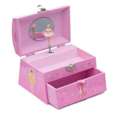 Girls Pink Ballet Dance Music Large Jewellery Box Chest By Katz Dancewear JB25 Ballet Music Box