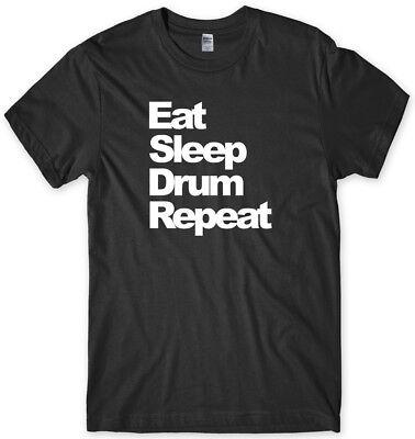 Eat Sleep Drum Repeat Mens Funny Unisex T-Shirt - Eat Sleep Drum