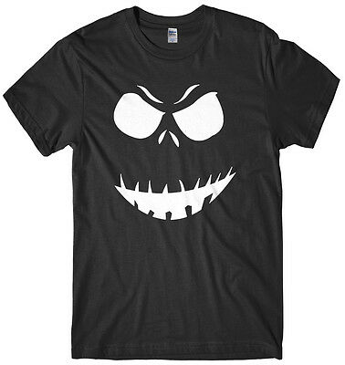 Halloween Pumpkin Face Designs (Evil Scary Pumpkin Face Design Mens Funny Unisex Halloween)