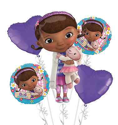 Doc McStuffins Happy Birthday Foil Balloons Bouquet Party Decorations Supplies 5