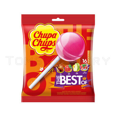 CHUPA CHUPS Lollipops THE BEST OF Variety Pack Cola, Apple, Strawberry