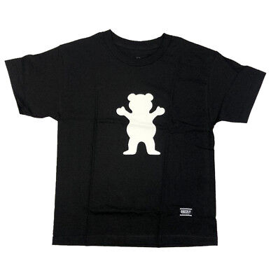 Grizzly Griptape OG Bear Basic Black Youth T-Shirt