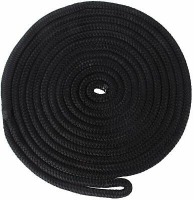 """2 Pack 30' x 3/4 in Double Braided Nylon Dock Line/Mooring Lines with 12"""" Eyelet"""