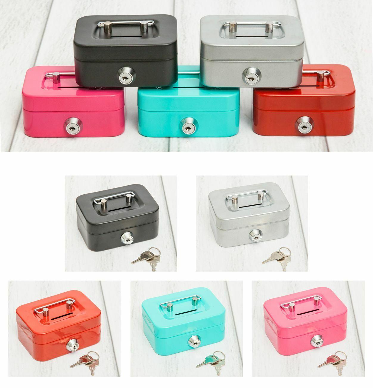 Geldkassette Metall Spardose mit Schlüssel Kasse mini Sparschwein Geldkasse Geld