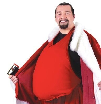 Santa Clause Padded Belly Stomach Stuffer Adult Costume Accessory, One Size