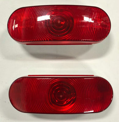Triton 03526 Red Incandescent Oval Tail Light - 2 Pack