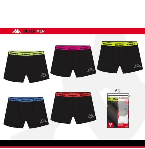 Kappa 6er Set ** Schwarz ** Boxer Shorts Herren Unterhose Unterwäsche Kappa