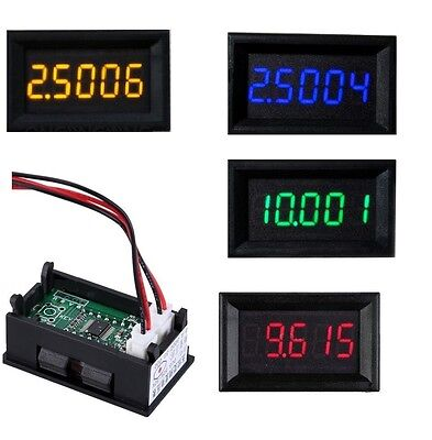 Rgb Led 5 Digit Dc 0-4.3000-33.000v Digital Voltmeter Voltage Meter Car Panel