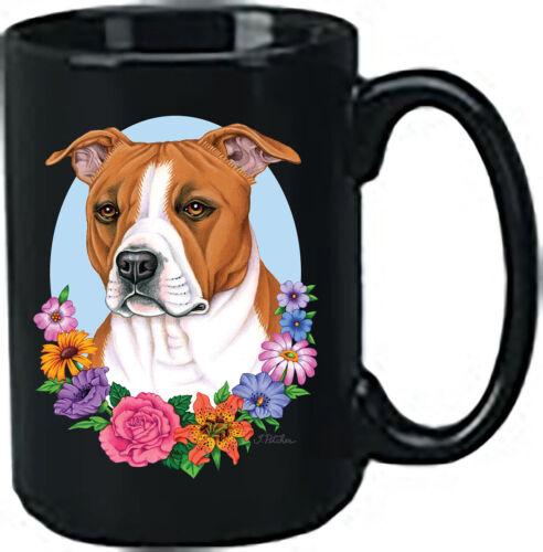 Brown Pit Bull Terrier Black Ace Mug (TP) 99093
