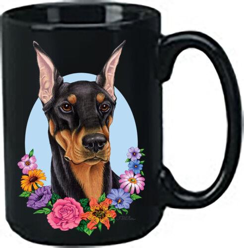 Black and Tan Doberman Pinscher Black Ace Mug (TP) 99015
