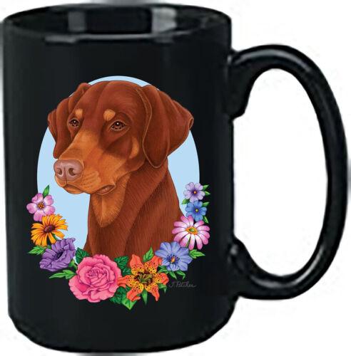 Uncropped Red Doberman Pinscher Black Ace Mug (TP) 99198