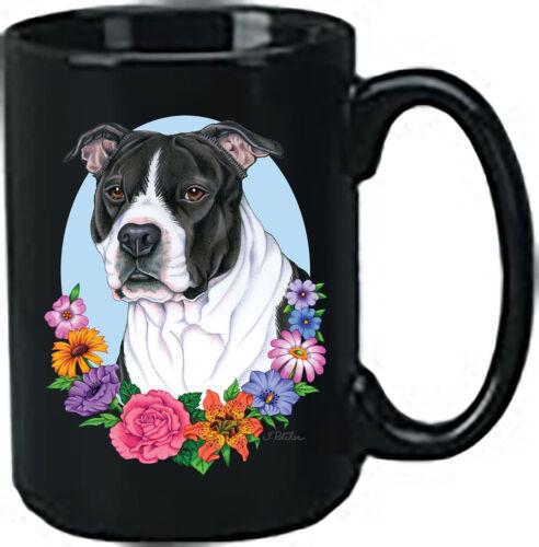 Black and White Pit Bull Terrier Black Ace Mug (TP) 99405