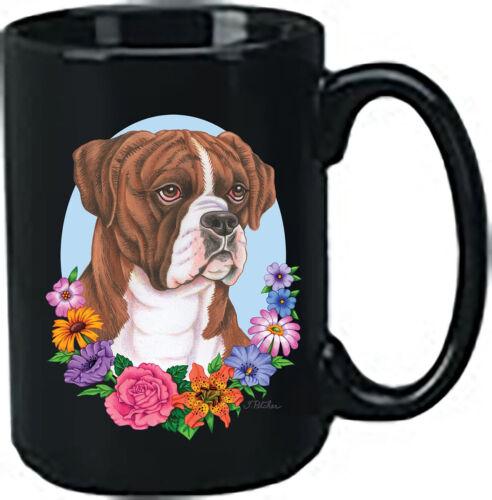 Uncropped Brindle Boxer Black Ace Mug (TP) 99149