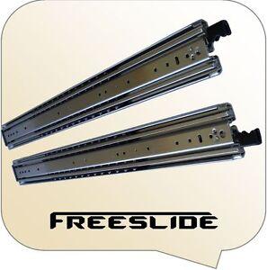 1000mm Extra Heavy Duty 227kg FREESLIDE locking drawer draw slide runners 4wd