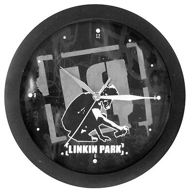 Linkin Park - Spraypaint Lp Logo Guy Nu Metal Black Wall Clock -