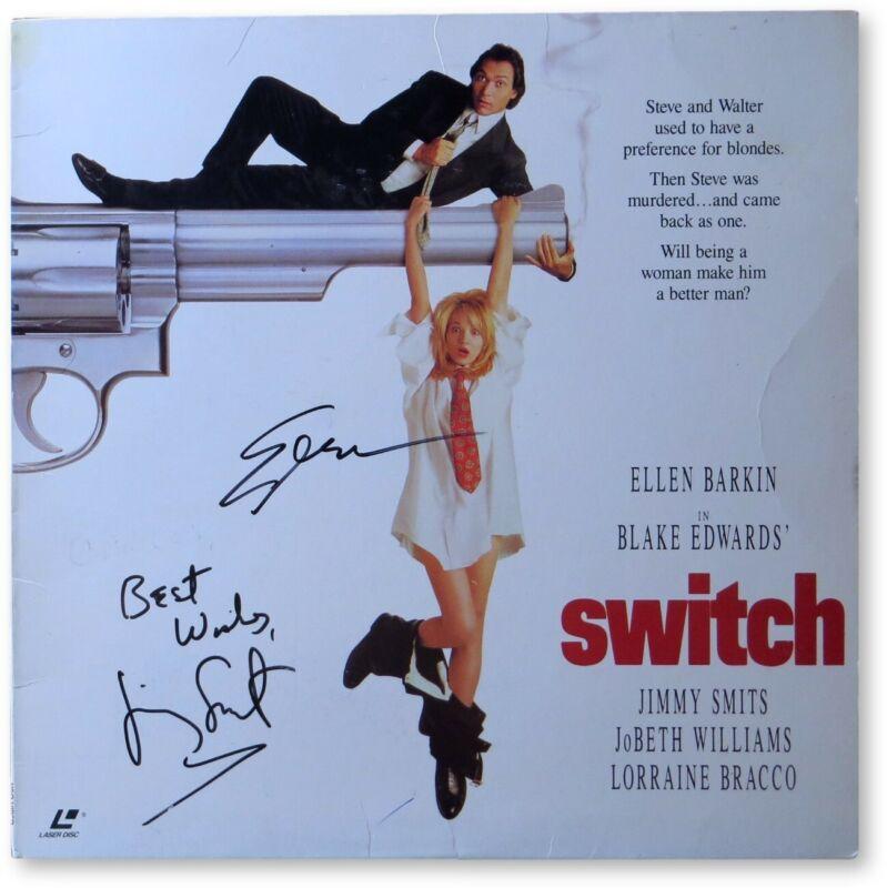 Ellen Barkin Jimmy Smits Signed Autographed Laserdisc Cover Switch JSA GG68705