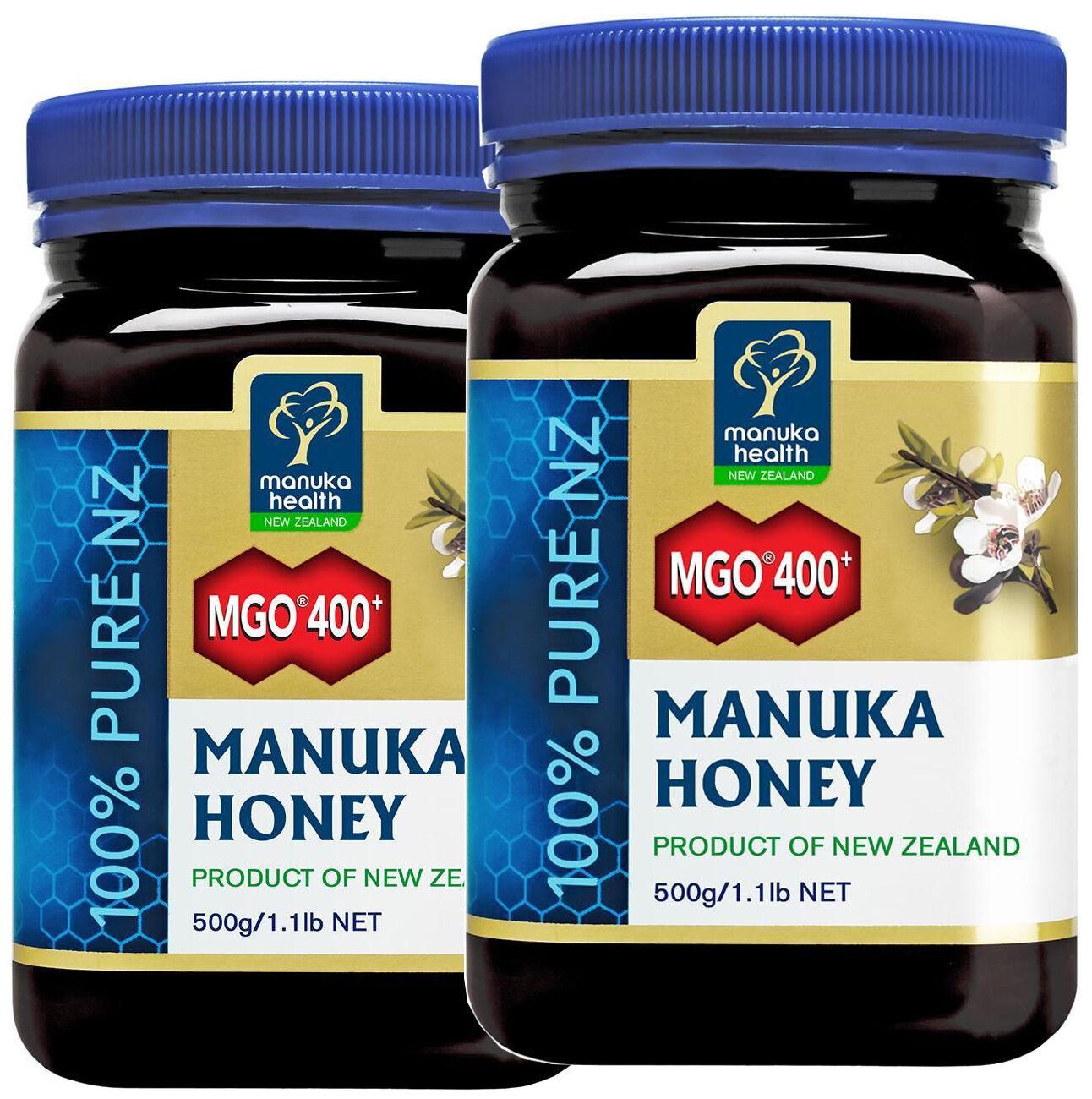 Aktiver Manuka-Honig MGO 400+  1000g (1 kg!) Manukahonig (2x500g) .