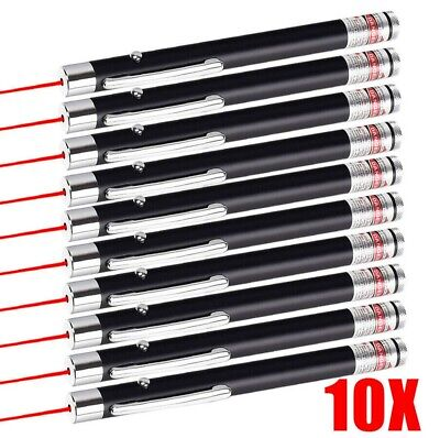 Pack Of 10 900miles Red Laser Pointer Pen Astronomy Beam Torch 650nm Lazer 1mw
