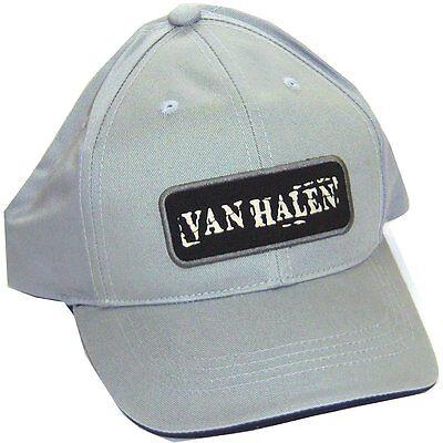 VAN HALEN PATCH LOGO 5150 GREY BASEBALL HAT CAP NEW OFFICIAL ADJUSTABLE
