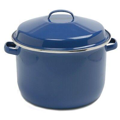 Norpro 588 Porcelain Enamel 18 Qt Canning Stock Lobster Crab Pot With Lid Blue on Sale
