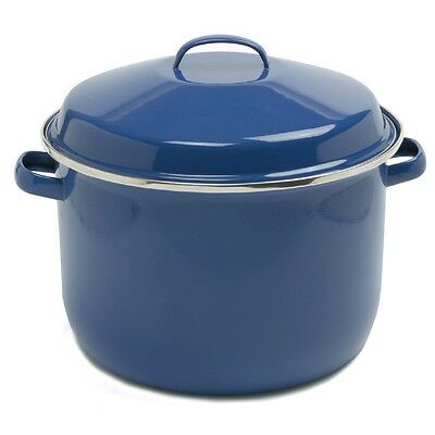 Norpro 588 Porcelain Enamel 18 Qt Canning Stock Lobster Crab Pot With Lid Blue on Sale