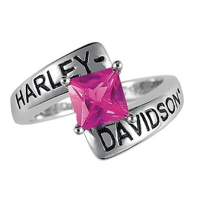 Harley-davidson® July Birthstone Ring - Faux Ruby - Size 7 D4j8823