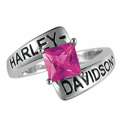 Harley-davidson® July Birthstone Ring - Faux Ruby - Size 7 D4j8823