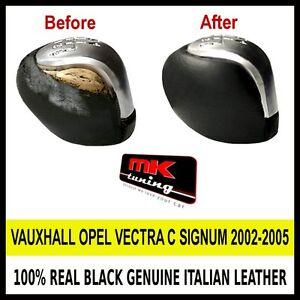 Opel vectra c signum 2002 05 cuir noir couverture pour for Housse levier de vitesse