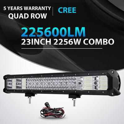 QUAD ROW 23INCH 2256W LED LIGHT BAR SPOT FLOOD OFFROAD 4X4WD TRUCK 22